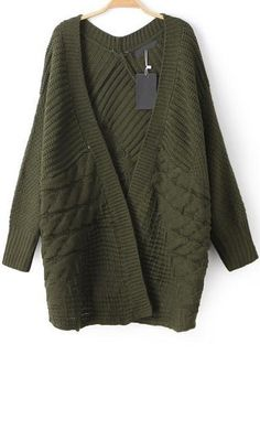Army Green Cardigan. Sometimes, you're just in the mood for a sweater :)