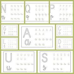 Recursos para el aula: Fichas de lectoescritura Trabaja la lectoescritura con las letras del abecedario, una manera facil de mejorar la grafía en los niños