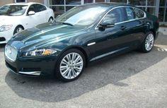 Green Jaguar XF