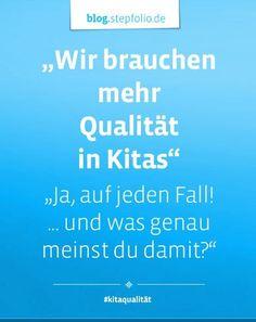 Jeder spricht davon, dass es mehr Qualität in den Kitas braucht. Ja..klar... Qualität ist auf jeden Fall wichtig! Nur was genau meint dieser Qualitätsbegriff? Bei Experten der frühkindlichen Bildung wurde nachgefragt, was genau sie unter Qualität in der Kita meinen: https://blog.stepfolio.de/themen-rund-um-kita-qualitaet/mehr-qualitaet-in-kitas #kitaqualität #experteninterviews