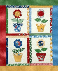 Mimi's Garden Quilt Pattern  Sweet Vintage Flowers  PDF by feedsax, $4.95