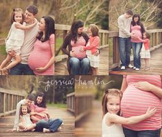 Great ideas for a family maternity shoot!!