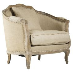 Cottage Chic from Joss and Main. Love the shabby look of this Bergere.