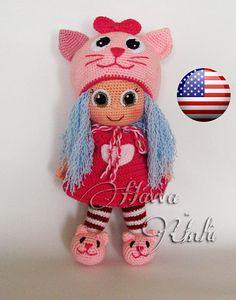 PATTERN  Cat Doll crochet amigurumi por HavvaDesigns en Etsy