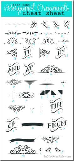chalkboard wingding fonts - Google Search