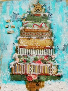 Christmas Canvas~~Scraps of Elegance~~ - Scrapbook.com