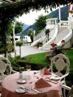 Romantic location at Grand Hotel, Zell Am See, Austria Beautiful Hotels, Beautiful World, Beautiful Places, Fresco, The Places Youll Go, Places To Visit, Gazebo On Deck, Zell Am See, Hotels And Resorts