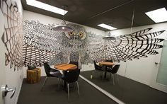 Stunning Owl Mural at Hootsuite Office