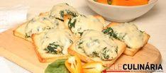 Receita de Torradinhas de espinafres. Descubra como cozinhar Torradinhas de espinafres de maneira prática e deliciosa com a Teleculinária!