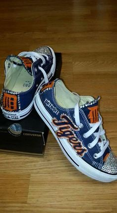 Customized Detroit Tigers Chucks. You provide the shoes...well do the rest. You may provide any canvas shoes. Once purchase is made, we will email you the shipping address.