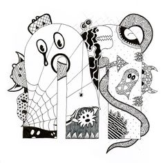 Zentangle Monsters