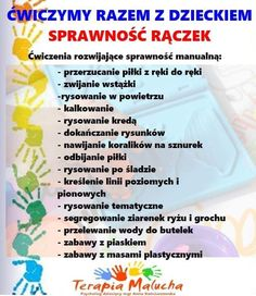 Motor Activities, Infant Activities, Polish Language, Hand Therapy, Baby Hacks, Kids And Parenting, Presents, Classroom, Education