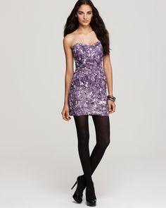 GUESS Olivia Strapless Shutter Pleat Print Dress  ORIG $108.00  SALE $54.00