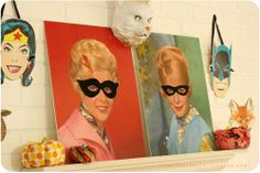 awesome. look for thrift store/flea market portraits