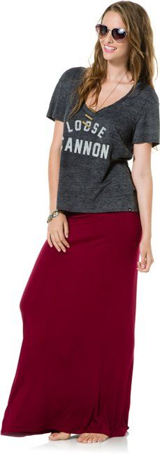 Favorite maxi skirt in burgundy http://www.swell.com/Girls-SWELL/SWELL-MY-FAVORITE-MAXI-SKIRT?cs=YB
