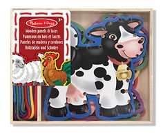 Melissa and Doug Farm Animals Lace And Trace Panels -- This is an Amazon Affiliate link. See this great product.