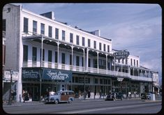 La Clede Hotel (opened in 1871) on Government Street at St. Emanuel, Mobile, Alabama, United States, 1951, photograph by Charles W. Cushman.