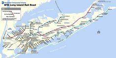 MTA Long Island Railroad System Map, 2012