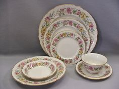 Embassy USA 1960s Lord Mayfair Porcelain China 7pc Place Setting Dinnerware Set | eBay 1960s House, China Dinnerware, Tea Set, Decorative Plates, Lord, Tableware, Ebay, Home Decor, Dinnerware
