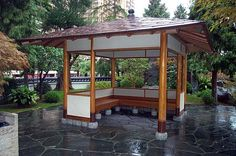 Small Japanese Tea House | Larger, Japanese-style tea house on the water.