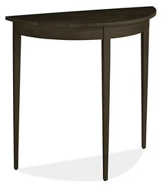 Adams 30x12 29h Half-Round Console Table in Charcoal - Console Tables - Living: Accent Tables & Storage - Room & Board