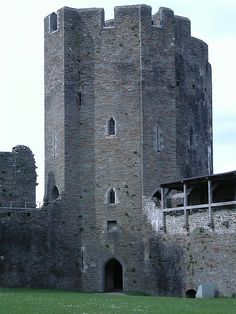 Caerphilly Castle is a medieval fortification in Caerphilly, South Wales. The castle was constructed by Gilbert de Clare in the 13th century as part of his campaign to conquer Glamorgan. The Normans began to make incursions into Wales from the late 1060s onwards, pushing westwards from their bases in recently occupied England. Photo: castlewales.com