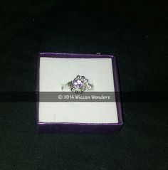 Amethyst ring £25 plus £1.50p&p  www.wiccanwonders.co.uk Wiccan, Amethyst, Engagement Rings, Jewellery, Rings For Engagement, Wedding Rings, Jewelery, Jewelry Shop, Commitment Rings