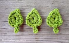 One Round Leaf (With Stem) Free Crochet Pattern
