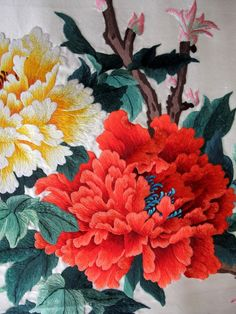 Visit the post for more. Chrysanthemum Chinese, Chinese Embroidery, Contemporary Artwork, Vintage Prints, Original Paintings, Plants, Contemporary Art, Plant, Planets
