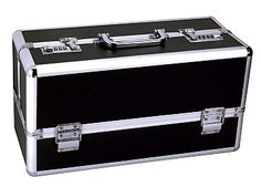 Lockable Vibrator Case Large Black - A sexy way to keep your naughty valuables a secret from prying minds.