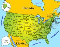 North America – countries and states of the USA – south america destinations Michigan Usa, Minnesota, South Dakota, South Carolina, Maine, Kansas Missouri, South America Destinations, New Hampshire, Rhode Island