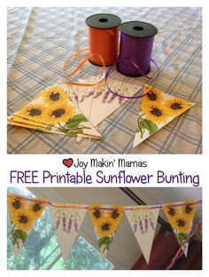 Free printable sunflower bunting party decoration