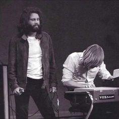 Jim Morrison and Ray Manzarek in concert, 1969
