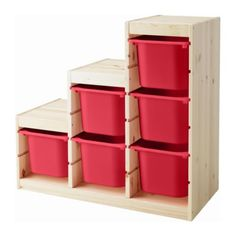 TROFAST Storage combination with boxes IKEA Several grooves allow you to place boxes/shelves where you want them.