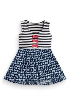 קנה שמלה עם פפיון (3 חודשים-6 שנים) היום ברשת נקסט ישראל