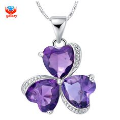 Fine Jewelry Womens Purple Crystal Gold Over Silver Pendant Necklace uR2oaGWQR