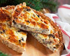 Sekoita leivinjauhe jauhoihin, yhdistä kaikki aineet ja sekoita hyvin. Voitele piirakkavuoka ja jauhota Myllärin Luomu Korppujauhoilla, levitä taikina vuokaan. Kuullota sipulit pannulla öljyssä, lisää pilkotut sienet ja paista kunnes kosteus haihtunut. Levitä sieni-sipuliseos piirakkapohjalle. Lisää puolitetut kirsikkatomaatit, kermaviili ja lopuksi … Continued