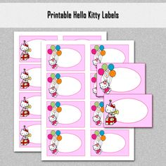DIGITAL ITEM * Digital Delivery * NO physical product will be sent!   Print your own labels at home with this ready to print set of labels. Great solution to organizing your children stuff, toys, stor