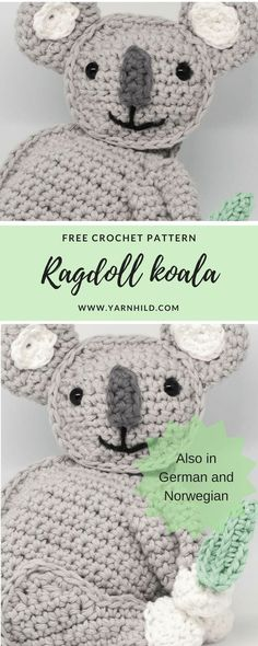 Finn der Koala - Crochet pattern for free