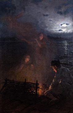 Antoni Piotrowski (1853-1924), Parmi les Flammes - 1907