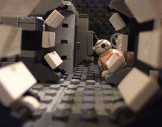 """There has been awakening. Have you felt it? Lego Millenium Falcon, Starwars, Lego Display, Amazing Lego Creations, Lego Photography, Lego Design, Lego Projects, Cool Lego, Spaceships"