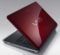 Red Sony Vaio Laptop