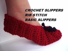 Crochet Slippers Free Pattern (Part 1) - YouTube