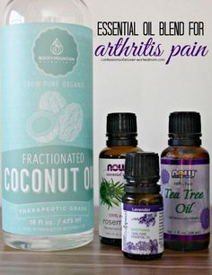 If arthritis pain is one of the things you're dealing with, see what I'm getting relief with. Essential oil rub. #HomeRemediesforArthritis