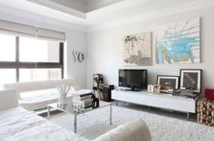 Angelita created a neutral space with basic furnishings from shops such as Ikea and The One, and has added
