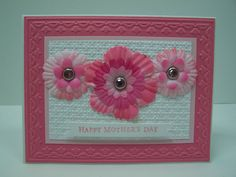 Stampin Up Handmade Greeting Card: Mother's Day Card, Floral Card, Happy Mother's Day, Mother-in-Law, Step-Mother, Step-Mom, Wife