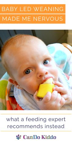 """Learn about what parents are calling """"modified BLW"""" and a """"sensible middle ground"""" approach to feeing your baby solids. CanDoKiddo.com"""