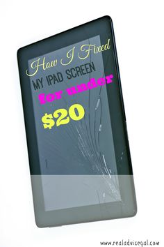I found a way to repair those ipad screens when they crack for under $20. I have had to do this twice.