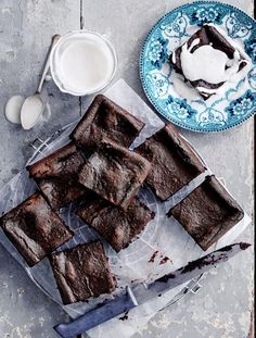 Gluten-free chocolate brownies Gooey & delicious, as well as vegan