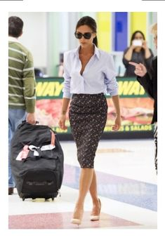 Love this outfit on Victoria Beckham